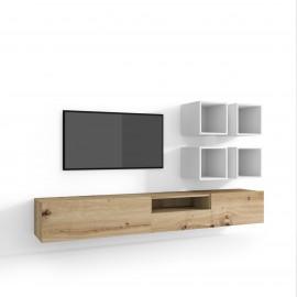 Skandynawska szafka pod telewizor 100 cm POŁYSK KOPENHAGA GLOSS