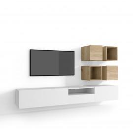 Skandynawska szafka pod telewizor 135 cm POŁYSK KOPENHAGA GLOSS