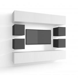 Praktyczny zestaw mebli z komodą KOPENHAGA GLOSS 3