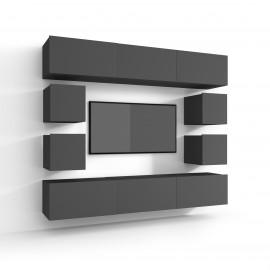 Mały zestaw mebli z szafką rtv KOPENHAGA GLOSS 4
