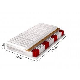 Biała sypialnia z łóżkiem i szafą BONO 5