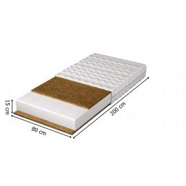 Stolik nocny z szufladami biały/dąb złoty IWA11